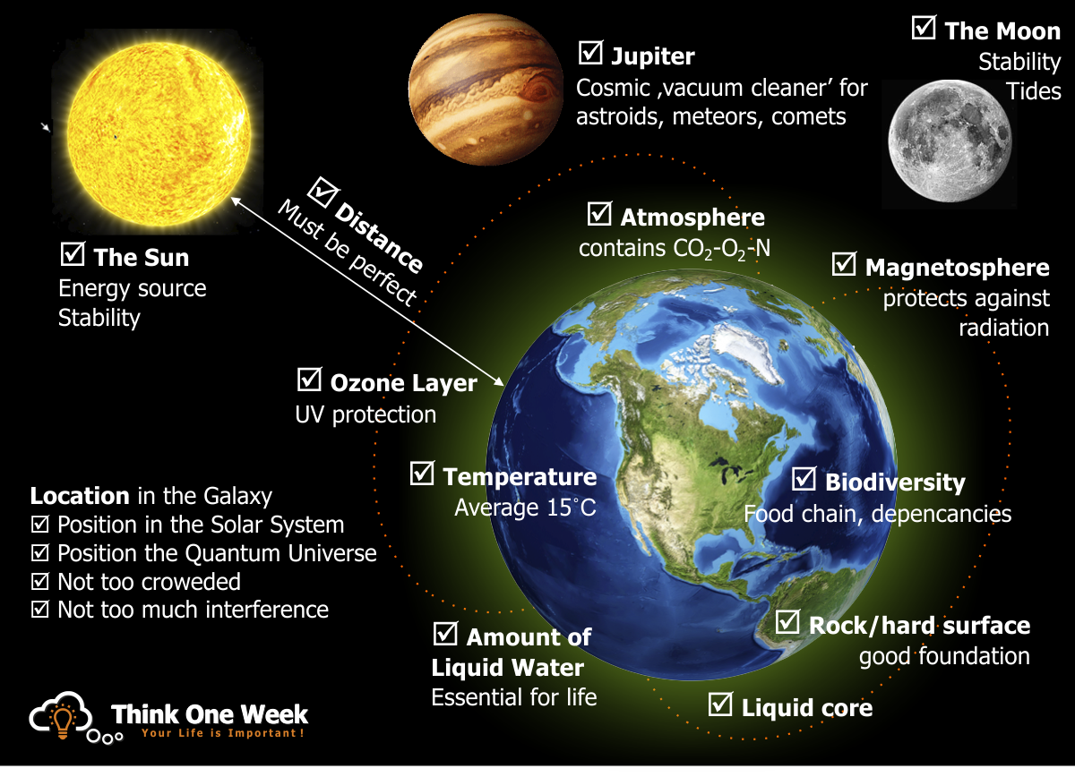 infographic Some of the Factors That Allow Life on Earth to Exist
